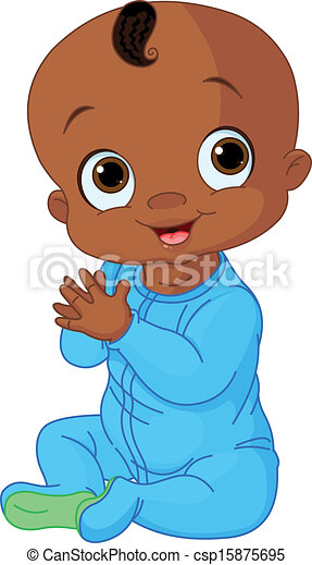 illustration of cute baby boy clapping hands eps vectors search rh canstockphoto com