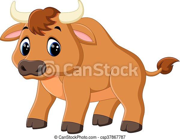 cute baby bull cartoon - csp37867787