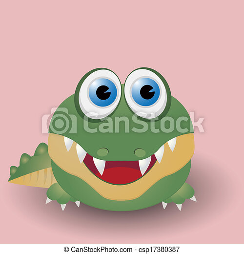 Cute baby crocodile - csp17380387