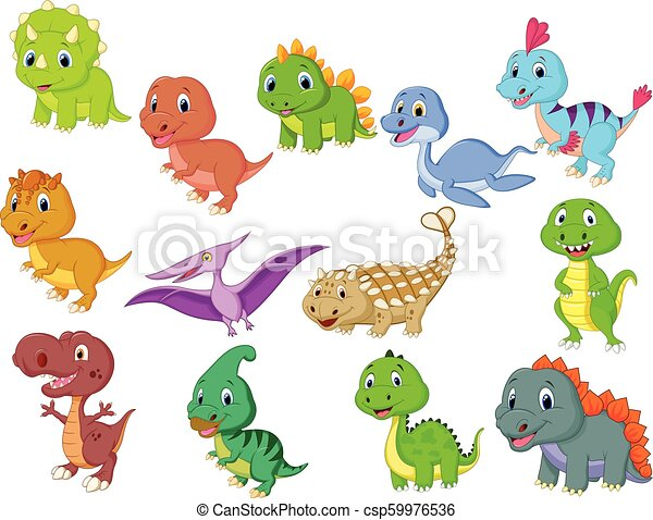 Cute baby dinosaurs collection - csp59976536