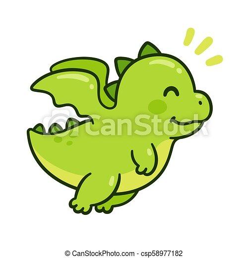 cute baby dragon cute cartoon green baby dragon flying funny