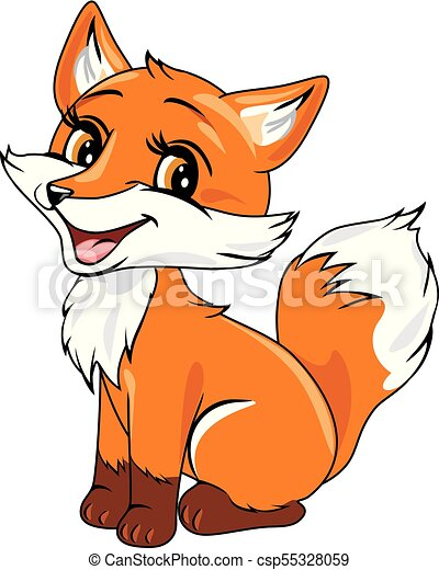 cute baby fox vector illustration clipart vector search rh canstockphoto com  free fox clipart images