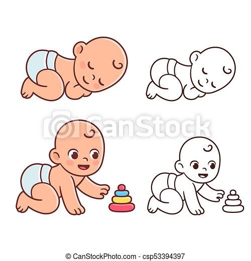 Cute Baby Illustration Sey