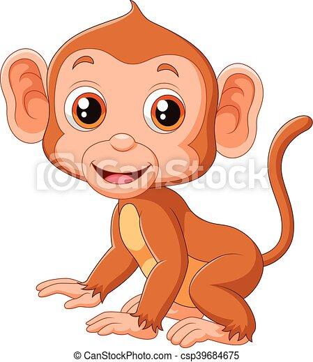 Cute baby monkey - csp39684675
