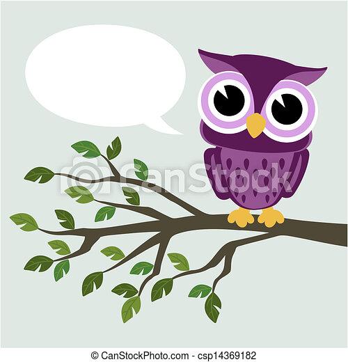 cute baby owl - csp14369182