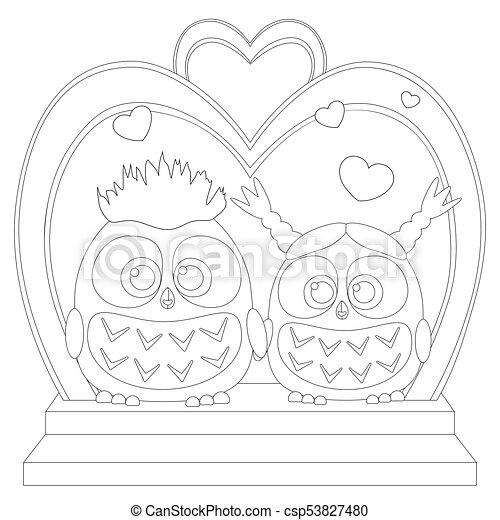 Cartoon owl pictures black and white wedding