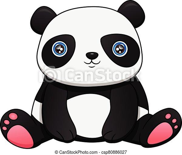 Cute baby panda - csp80886027