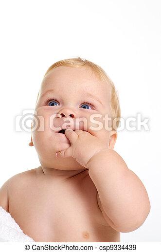 Cute Baby play - csp9334439