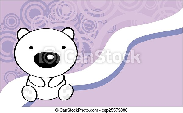 Cute Baby Polar Bear Background In Vector Format Very Easy To Edit