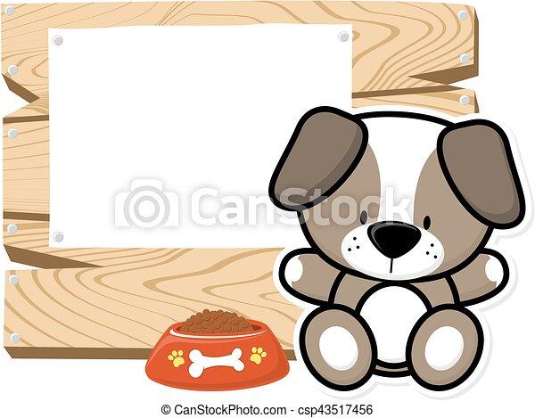 cute baby puppy frame - csp43517456