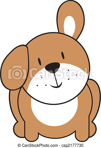 cute baby puppy isolated baby puppy individual objects very easy rh canstockphoto com Cartoon Puppy Clip Art Baby Kitten Clip Art