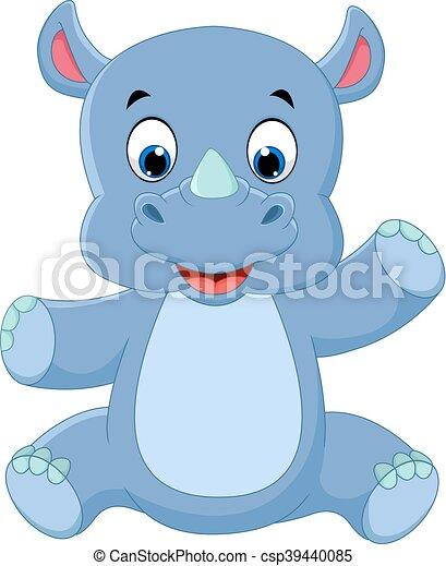 cute baby rhino - csp39440085