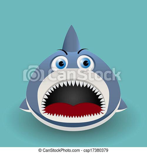 Cute baby shark cute cartoon baby shark vectors illustration cute baby shark csp17380379 stopboris Images