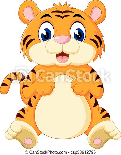 illustration of cute baby tiger cartoon eps vectors search clip rh canstockphoto com cute baby clipart png cute baby clipart black and white