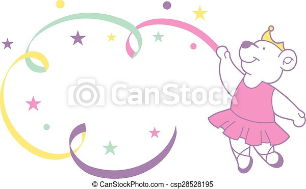 Cute ballerina bear - csp28528195