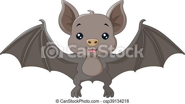 cute bat cartoon flying csp39134218 - Bat Cartoon