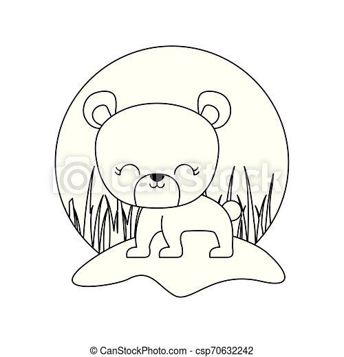cute bear animal isolated icon - csp70632242