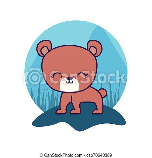 cute bear animal isolated icon - csp70640389