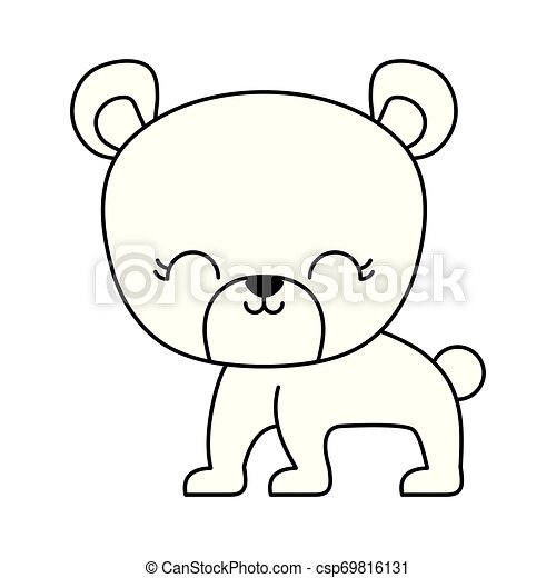 cute bear animal isolated icon - csp69816131