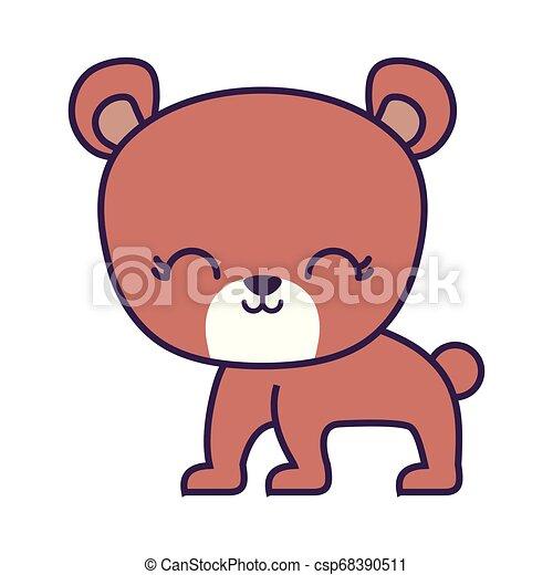cute bear animal isolated icon - csp68390511