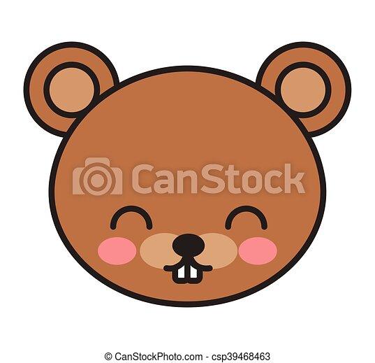 cute bear animal tender isolated icon - csp39468463