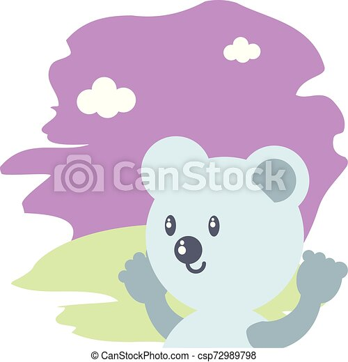 cute bear baby animal isolated icon - csp72989798