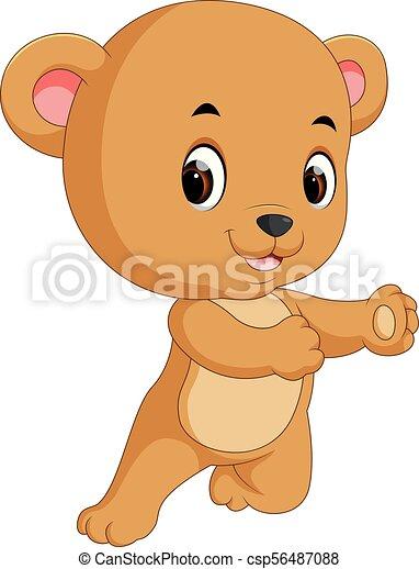 cute bear cartoon - csp56487088