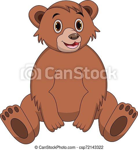 Cute bear cartoon - csp72143322
