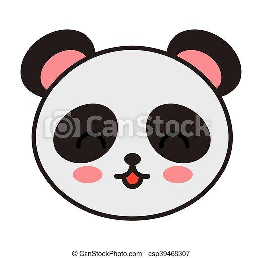 cute bear panda animal tender isolated icon - csp39468307