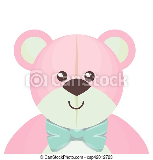 cute bear teddy isolated icon - csp42012723