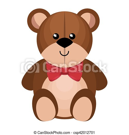 cute bear teddy isolated icon - csp42012701