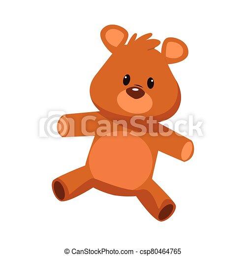 cute bear teddy stuffed icon - csp80464765