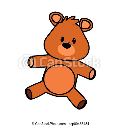 cute bear teddy stuffed icon - csp80466484