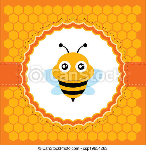 cute, bee. - csp19654263