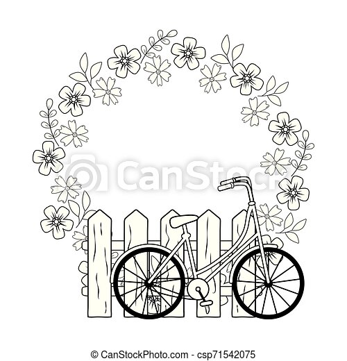 Flowers Clip Art Bicycle Fence