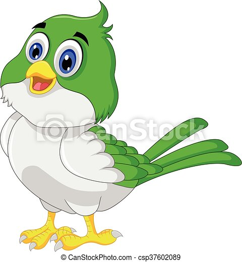 Cute bird cartoon - csp37602089