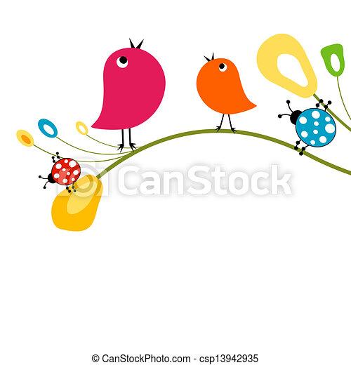cute birds - csp13942935