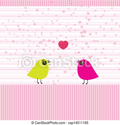 Cute birds on the love date - csp14511165