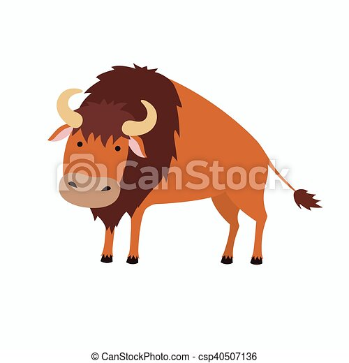 cute bison cartoon illustration for children isolated on white rh canstockphoto com cartoon bison images cartoon bison images