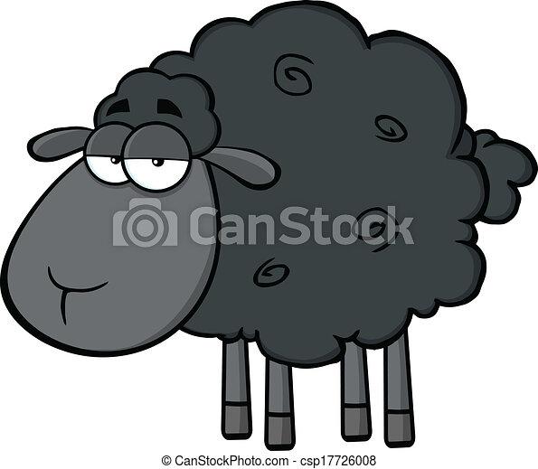 cute black sheep character cute black sheep cartoon mascot rh canstockphoto com black sheep clip art hard black sheep clipart graphics