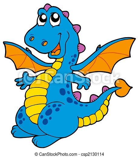 Cute blue dragon - csp2130114