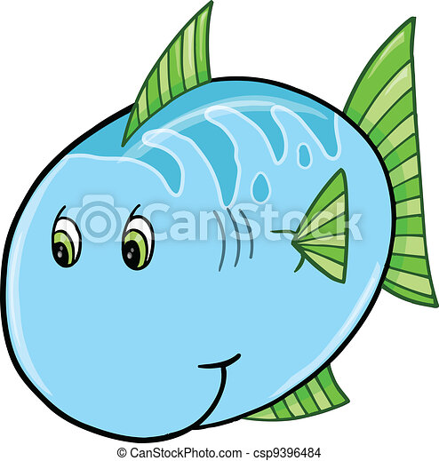 cute blue fish vector illustration eps vector search clip art rh canstockphoto com fish vector art free red fish vector art