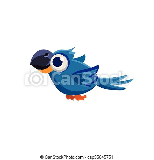 Cute Blue Macaw Parrot - csp35045751