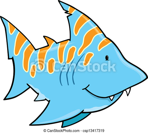 cute blue shark vector art vector clip art search illustration rh canstockphoto com funny shark clipart funny shark clipart