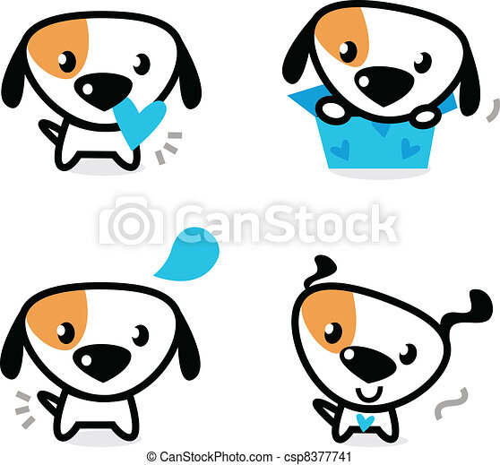 Popular Valentine Bow Adorable Dog - cute-blue-valentine-dogs-set-isolated-on-vector-clip-art_csp8377741  Gallery_52137  .jpg