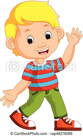 Cute boy cartoon posing - csp46276089