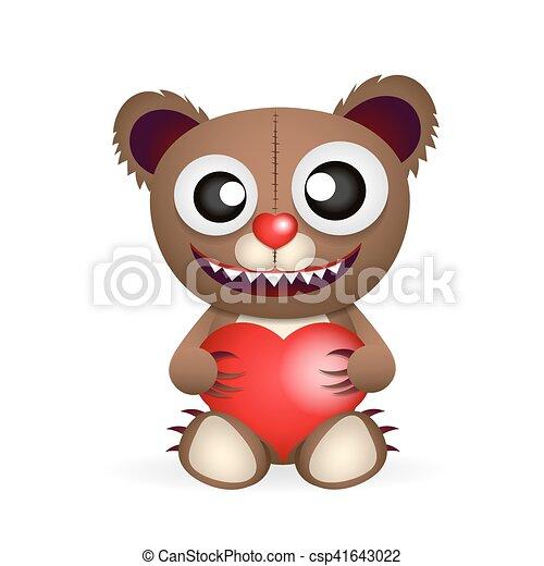 Cute brown teddy bear - csp41643022