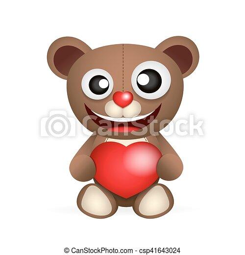 Cute brown teddy bear - csp41643024