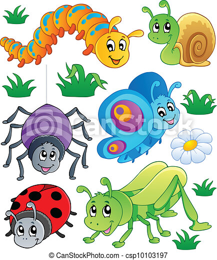 Cute bugs collection 1 - csp10103197
