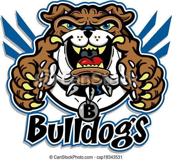 cute bulldog mascot - csp18343531